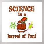 Barril de la ciencia de diversión posters