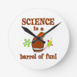 Barril de la ciencia de diversión reloj