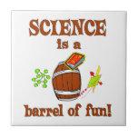 Barril de la ciencia de diversión tejas  ceramicas