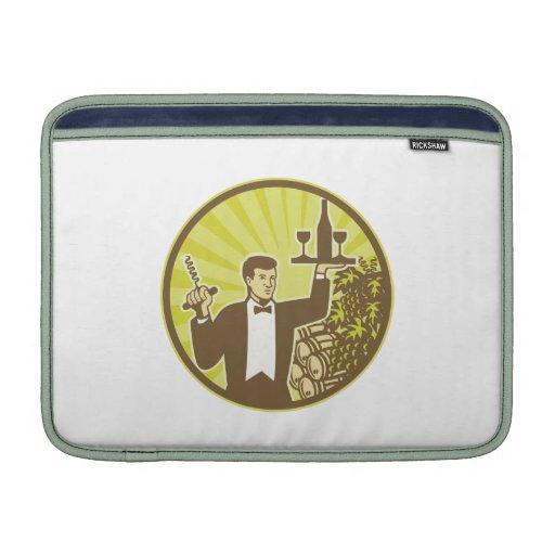 Barril de las uvas de vino de la porción del camar funda  MacBook