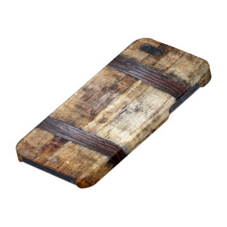 Barril de madera envejecido iPhone 5 funda