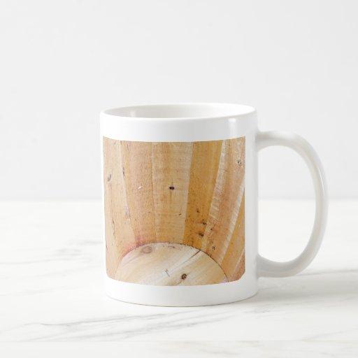 Barril de madera tazas de café
