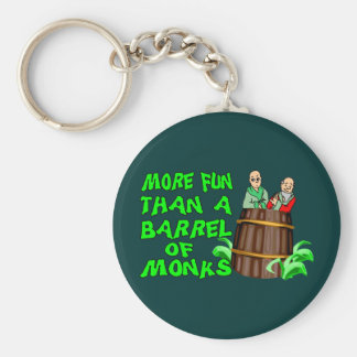 Barril de monjes llaveros personalizados