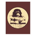 Barril de monos postal