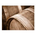 Barril de vino del roble tarjeta postal