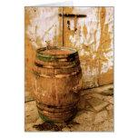 Barril de vino Notecard Tarjeta Pequeña