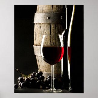 Barril de vino póster