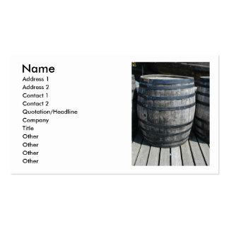 Barril de vino tarjeta de negocio