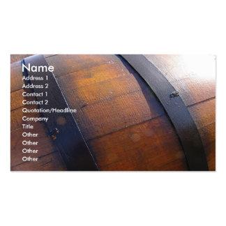 Barril de vino tarjetas de visita