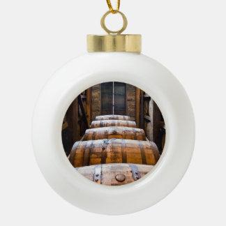 barriles adorno de cerámica en forma de bola