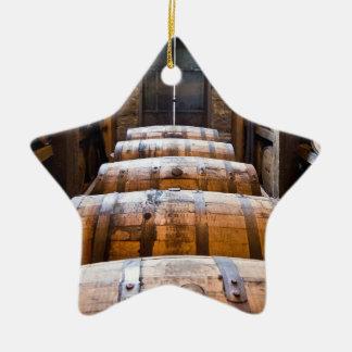 barriles adorno navideño de cerámica en forma de estrella