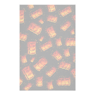 Barriles de aceite llameantes papeleria
