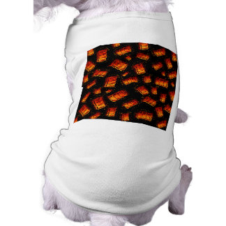 Barriles de aceite llameantes ropa de perro