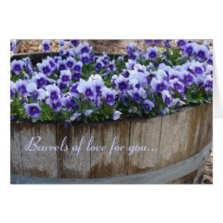 Barriles de amor para usted… tarjeta de felicitación