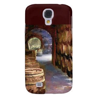 Barriles de vino en el vino AR Funda Para Galaxy S4