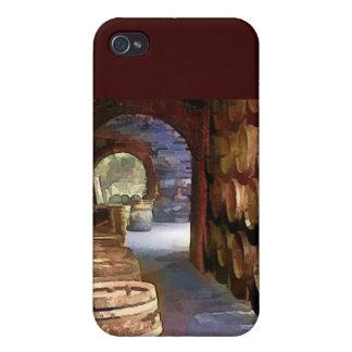 Barriles de vino en el vino AR iPhone 4 Carcasa