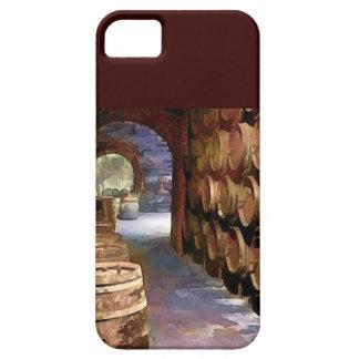 Barriles de vino en la bodega iPhone 5 cobertura