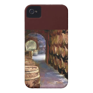 Barriles de vino en la bodega iPhone 4 carcasa