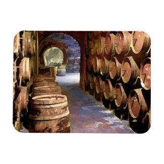 Barriles de vino en la bodega iman