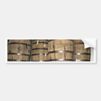 Barriles del whisky pegatina para auto