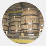 Barriles del whisky pegatina redonda
