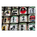 Barriles japoneses del motivo felicitaciones