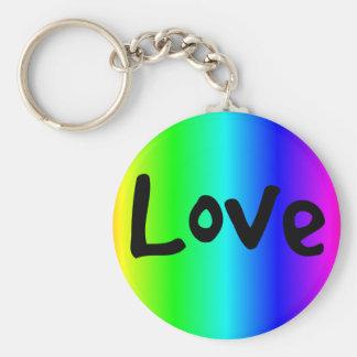 Barrilete-anillo del amor multicolor llavero redondo tipo pin
