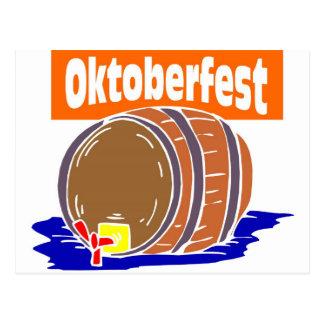 Barrilete de cerveza de Oktoberfest Postal