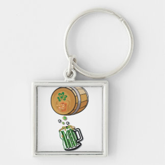 Barrilete de cerveza irlandés llavero