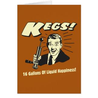 Barriletes: 16 galones de felicidad del líquido tarjeta de felicitación