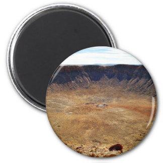 Barringer Meteorite Crater 2 Inch Round Magnet
