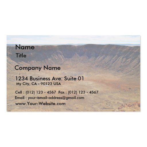 Barringer Meteorite Crater Double-Sided Standard Business Cards (Pack Of 100)