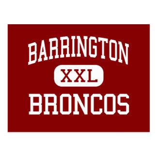 Barrington - Broncos - High - Barrington Illinois Postcard