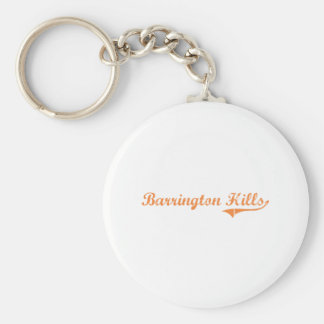 Barrington Hills Illinois Classic Design Keychain