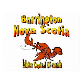 Barrington Nova Scotia Canada Lobster Postcard