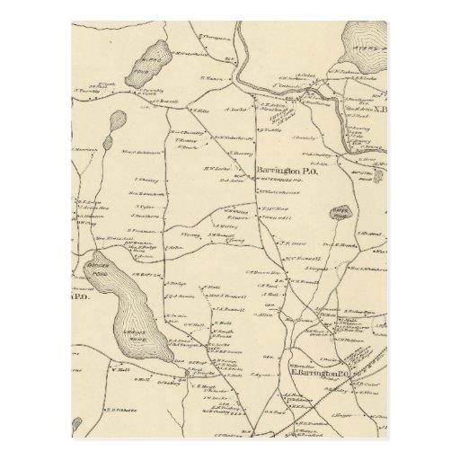 Barrington, Strafford Co Tarjeta Postal