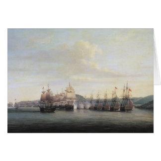 Barrington's Action at Santa Lucia, 1778 Card