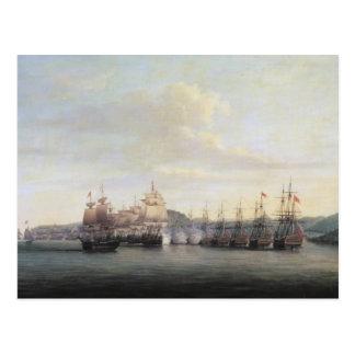 Barrington's Action at Santa Lucia, 1778 Postcard