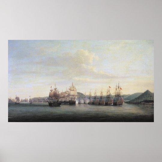 Barrington's Action at Santa Lucia, 1778 Poster