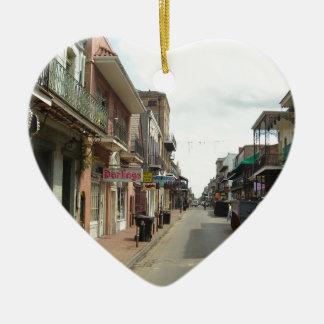 Barrio francés de New Orleans Adorno Navideño De Cerámica En Forma De Corazón
