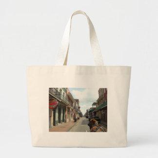 Barrio francés de New Orleans Bolsa De Tela Grande
