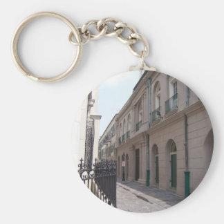 Barrio francés de New Orleans Llavero Redondo Tipo Pin