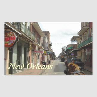 Barrio francés de New Orleans Pegatina Rectangular