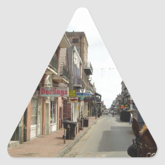 Barrio francés de New Orleans Pegatina Triangular