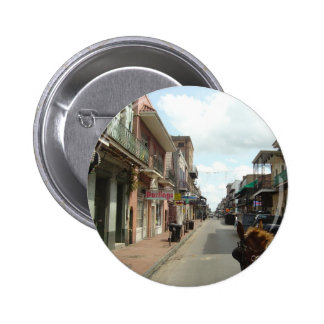 Barrio francés de New Orleans Pin Redondo De 2 Pulgadas