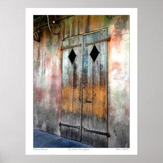 Barrio francés de New Orleans Póster
