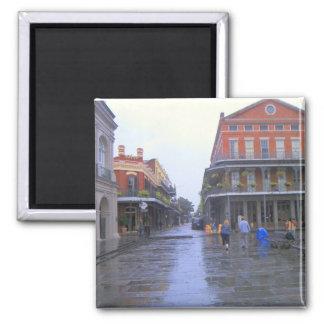 Barrio francés New Orleans Imán Cuadrado