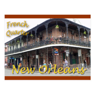 Barrio francés New Orleans Tarjeta Postal
