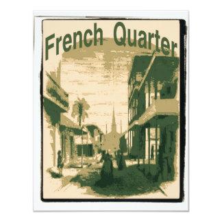 """Barrio francés, Orleans Invitación 4.25"""" X 5.5"""""""