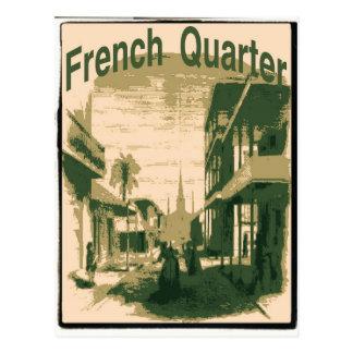 Barrio francés, Orleans Tarjeta Postal